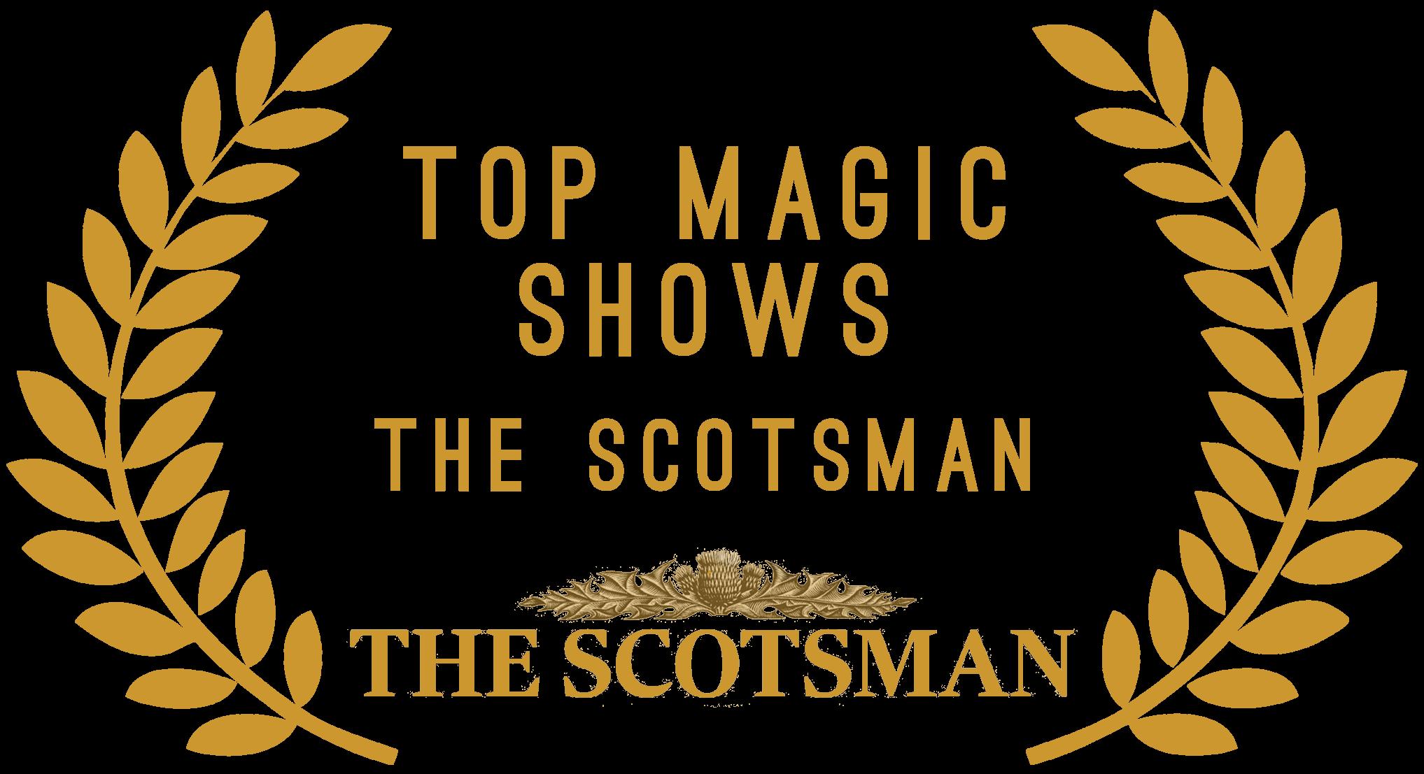 The scotsman top magic show award for Manchester magician Aaron Calvert