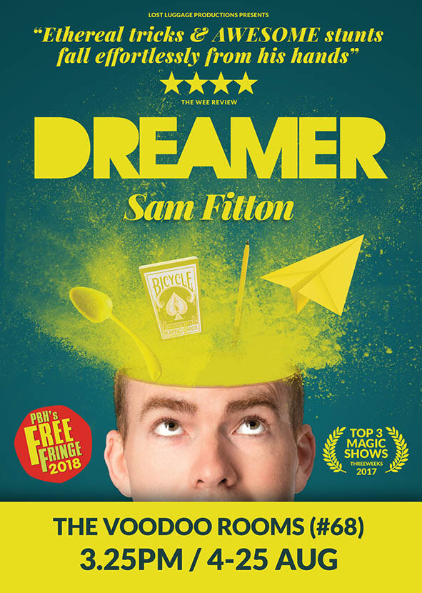 Edinburgh Fringe Magic show recommendation from mind reader and hypnotist and aaron Calvert