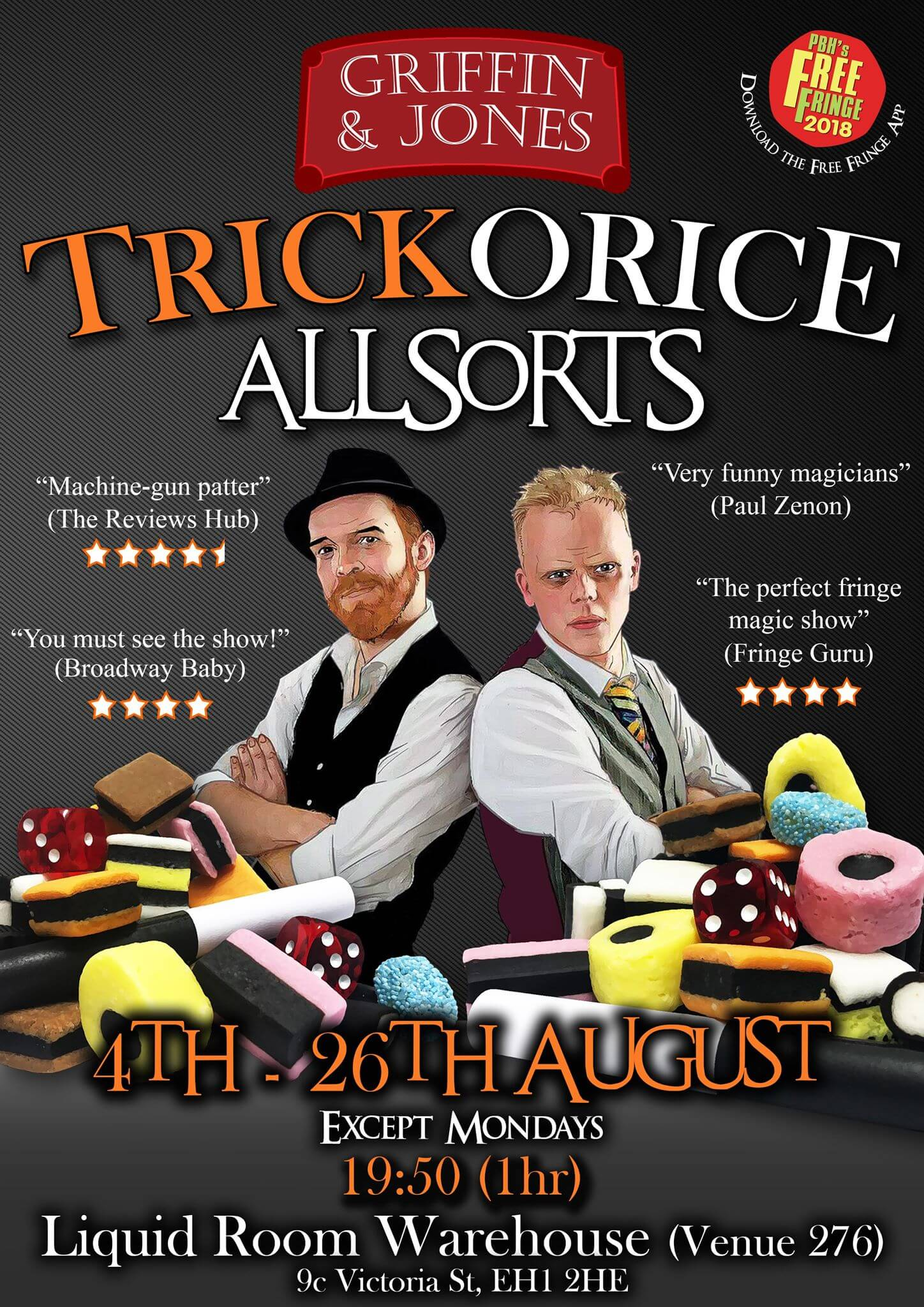 Griffin and Jones bring their edinburgh fringe magic show to Edfringe with Aaron Calvert
