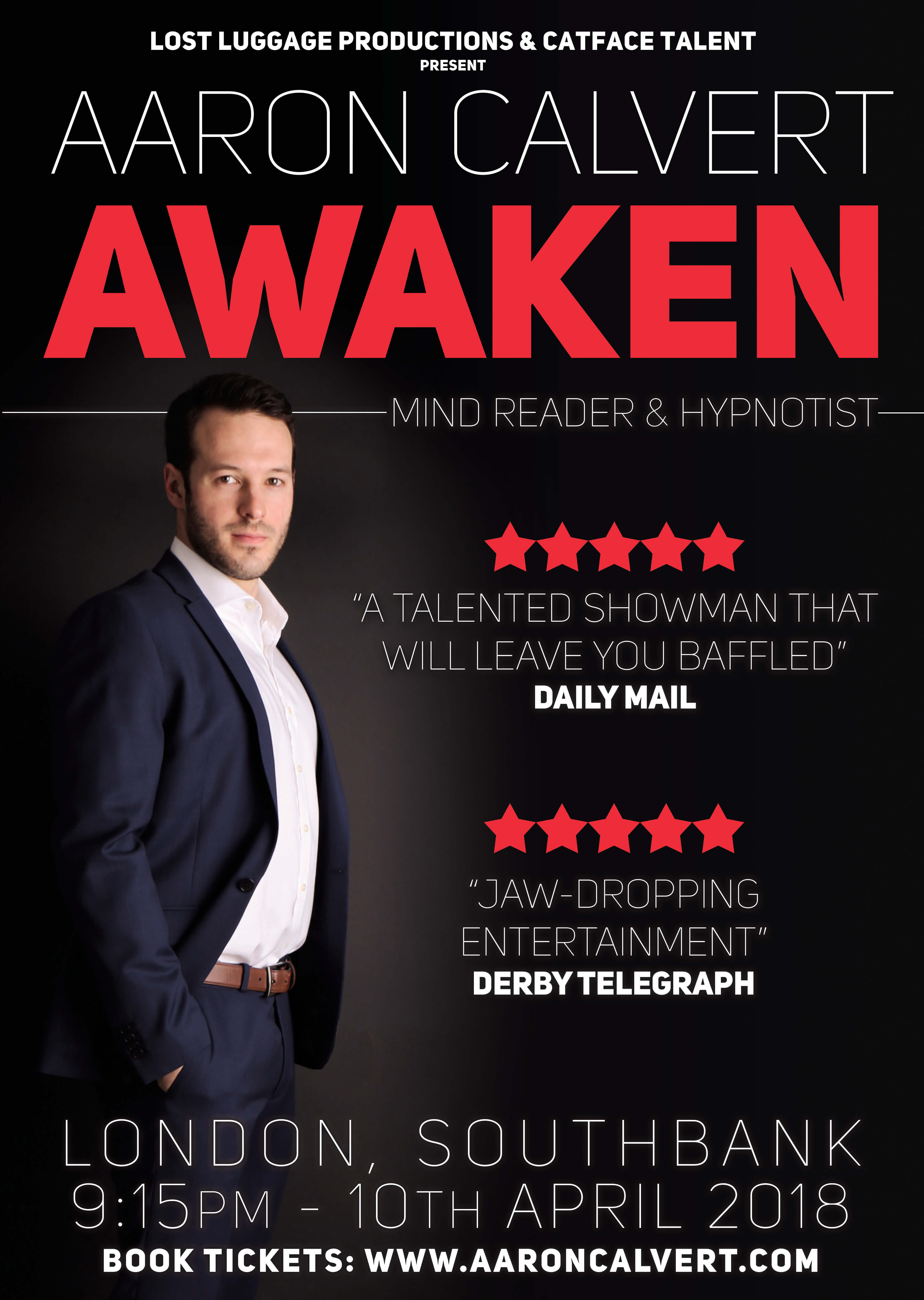 Aaron Calvert Awaken London Magic Show Underbelly Southbank