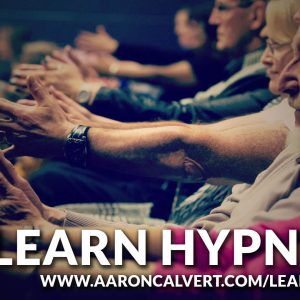 Aaron Calvert teaches hypnosis in Manchester at his learn hypnosis course with text