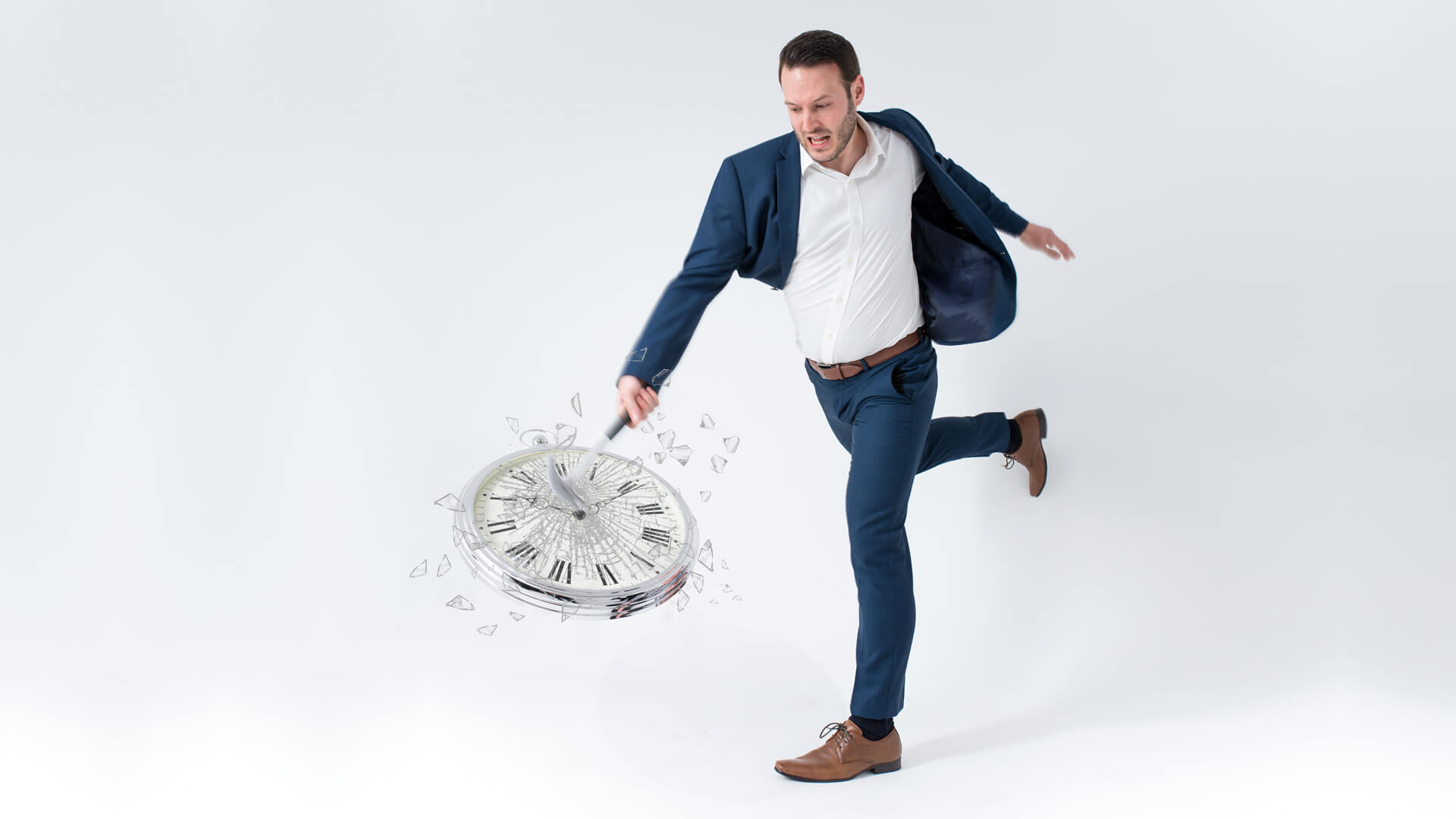 Manchester hypnotist Aaron Calvert smashing clock and breaking the mould of the stage hypnotist